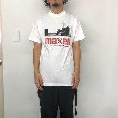 画像3: 90's MAXELL USA製 企業広告プリントTシャツ L (3)