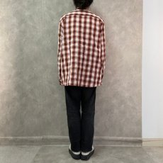 画像4: ● 【SALE】 THE NORTH FACE オンブレーチェック柄ポリシャツ XL (4)