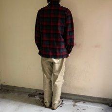 画像4: 【SALE】 50's PENDLETON オンブレーチェック ウールテーラードシャツ S (4)