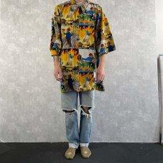 画像2: ストリートイラスト柄ポリシャツ 3XL (2)