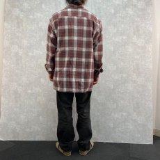 画像4: POLO JEANS CO. Ralph Lauren オンブレーチェック柄 オープンカラーシャツ L (4)