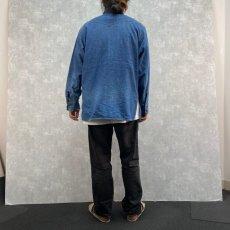 画像4: 70's LEVI'S オレンジタブ デニムウエスタンシャツ L (4)