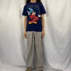 画像2: 90's Disney USA製 ファンタジアミッキープリントTシャツ M (2)