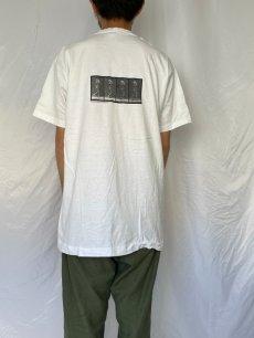 """画像4: 90's EADWEARD MUYBRIDGE USA製 """"MAN TIPPING HAT"""" アートプリントTシャツ XL (4)"""