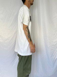"""画像3: 90's EADWEARD MUYBRIDGE USA製 """"MAN TIPPING HAT"""" アートプリントTシャツ XL (3)"""