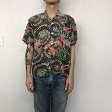 画像2: 50's PILGRIM Rayon Hawaiian shirt  (2)