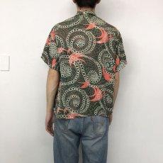 画像4: 50's PILGRIM Rayon Hawaiian shirt  (4)