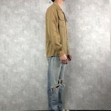 画像3: 40's〜 オープンカラーギャバジンシャツ M (3)