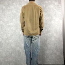画像4: 40's〜 オープンカラーギャバジンシャツ M (4)