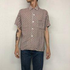 画像2: 60's Sandy Mac Donald Rayon Shirt L (2)