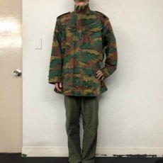 画像2: 【SALE】 80〜90's ベルギー軍 ジグソーカモ デニソンスモック (2)