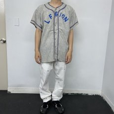"画像2: 40's〜50's ""LEGION"" Frannel Baseball shirt (2)"
