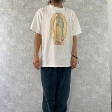 画像3: 〜2000's USA製 聖母マリア イラストプリントTシャツ XL (3)