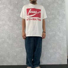 """画像3: 90's〜 Jesus """"HE'S the REAL THING"""" プリントTシャツ L (3)"""