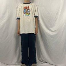 """画像2: 2000's ALF """"SPONGES SUCK!"""" テレビドラマプリントリンガーTシャツ 2XL (2)"""