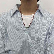 """画像3: RORAN """"White Hearts×Antique Turquoise"""" ネックレス (3)"""