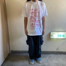 """画像2: ●【SALE】 90's """"BE"""" USA製 メッセージプリントTシャツ XL (2)"""