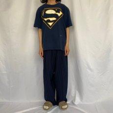 画像2: 90's Superman USA製 ロゴプリントTシャツ XL (2)