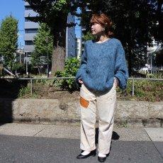 "画像6: STRANGE TRIP ""MIX MOHAIR BIG KNIT"" GRAY×BLUE 【L】 (6)"