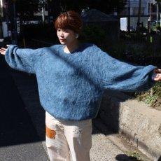"画像9: STRANGE TRIP ""MIX MOHAIR BIG KNIT"" GRAY×BLUE 【L】 (9)"
