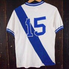 画像5: ▼【SALE】 VINTAGE Casa do Esportista パッチ付きナンバリングレーヨンTシャツ (5)