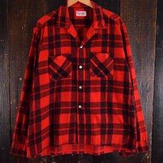 画像3: 60's Leesure Wear by Lee チェック柄 プリントネル ボックスシャツ (3)