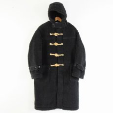 "画像4: BOWWOW ""BE BORN"" BOA DUFFLE COAT BLACK PAINT (4)"