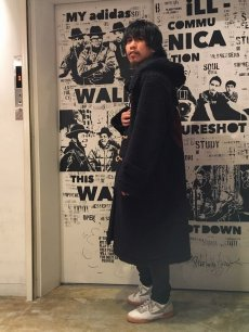 "画像6: BOWWOW ""BE BORN"" BOA DUFFLE COAT BLACK PAINT (6)"