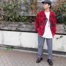 画像2: 60's Leesure Wear by Lee チェック柄 プリントネル ボックスシャツ (2)