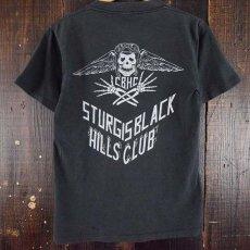 画像1: 【価格を見直しました】 90's C.B.H.C USA製 スカル バイカーTシャツ (1)
