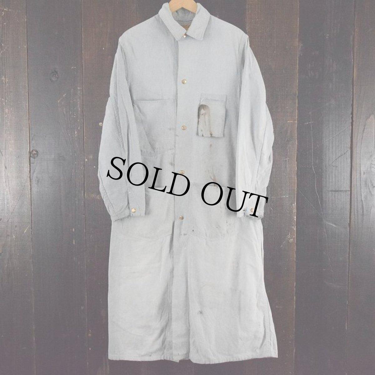 画像1: 60's CARTER'S Gray Chambray Duster Coat (1)