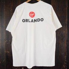 画像2: 2000's Virgin ORLANDO 航空会社プリントTシャツ XL (2)