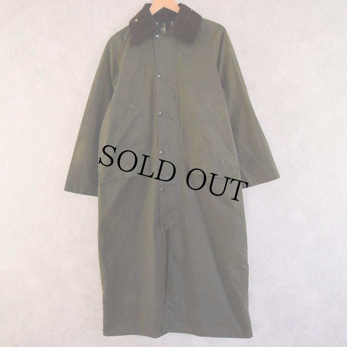 画像1: Barbour ENGLAND製 BURGHLEY 2ワラント Oiled Cotton Coat (1)