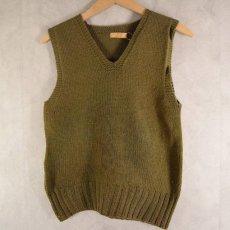 画像2: 40's AMERICAN RED CROSS Wool Knit Vest (2)