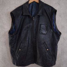 画像3: French Military Leather Pilot Jacket NAVY (3)