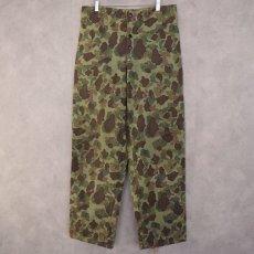 画像2: 40's USMC ダックハンターカモ HBT Trousers W35 (2)