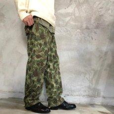 画像6: 40's USMC ダックハンターカモ HBT Trousers W35 (6)