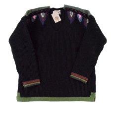 """画像1: ARIGATO FAKKYU """"Wool Knit Sweater"""" BLACK 【M】 (1)"""