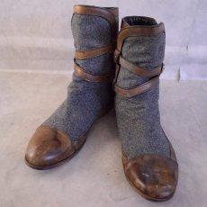 画像2: VINTAGE ITALY製 Wool × Leather Boots (2)