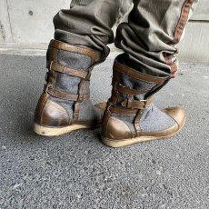 画像3: VINTAGE ITALY製 Wool × Leather Boots (3)