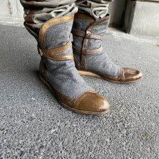 画像1: VINTAGE ITALY製 Wool × Leather Boots (1)
