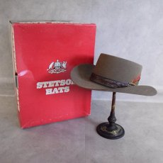 画像1: 60〜70's STETSON Smoke Brown 3X Beaver Hat DEADSTOCK (1)