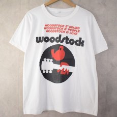 画像1: 80〜90's WOODSTOCK CANADA製 Music T-shirt XL (1)