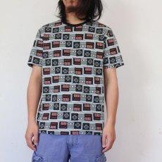 画像2: Nintendo コントローラープリント ゲームTシャツ M (2)