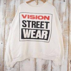 画像1: 80's VISION STREET WEAR スケートブランド ポケ付きスウェット (1)
