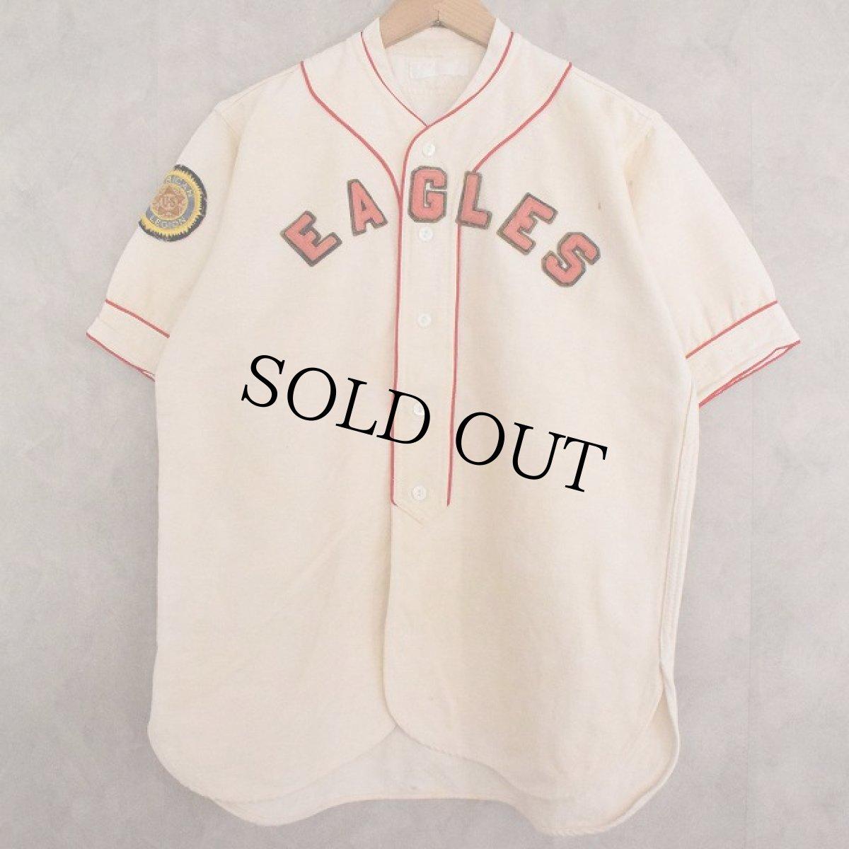 """画像1: 40's """"EAGLES"""" Baseball Flannel Shirt (1)"""
