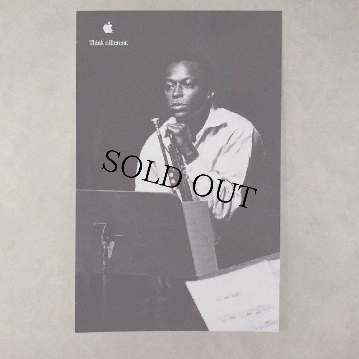 """画像1: 90's Apple Think different Poster """"Miles Davis"""" DEADSTOCK (1)"""