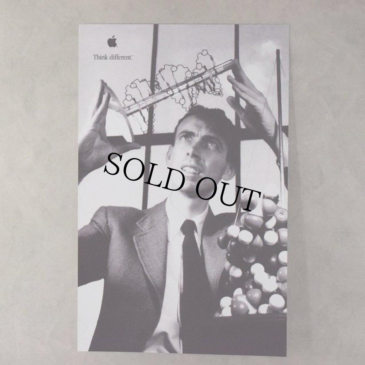 """画像1: 90's Apple Think different Poster """"James Watson"""" DEADSTOCK (1)"""