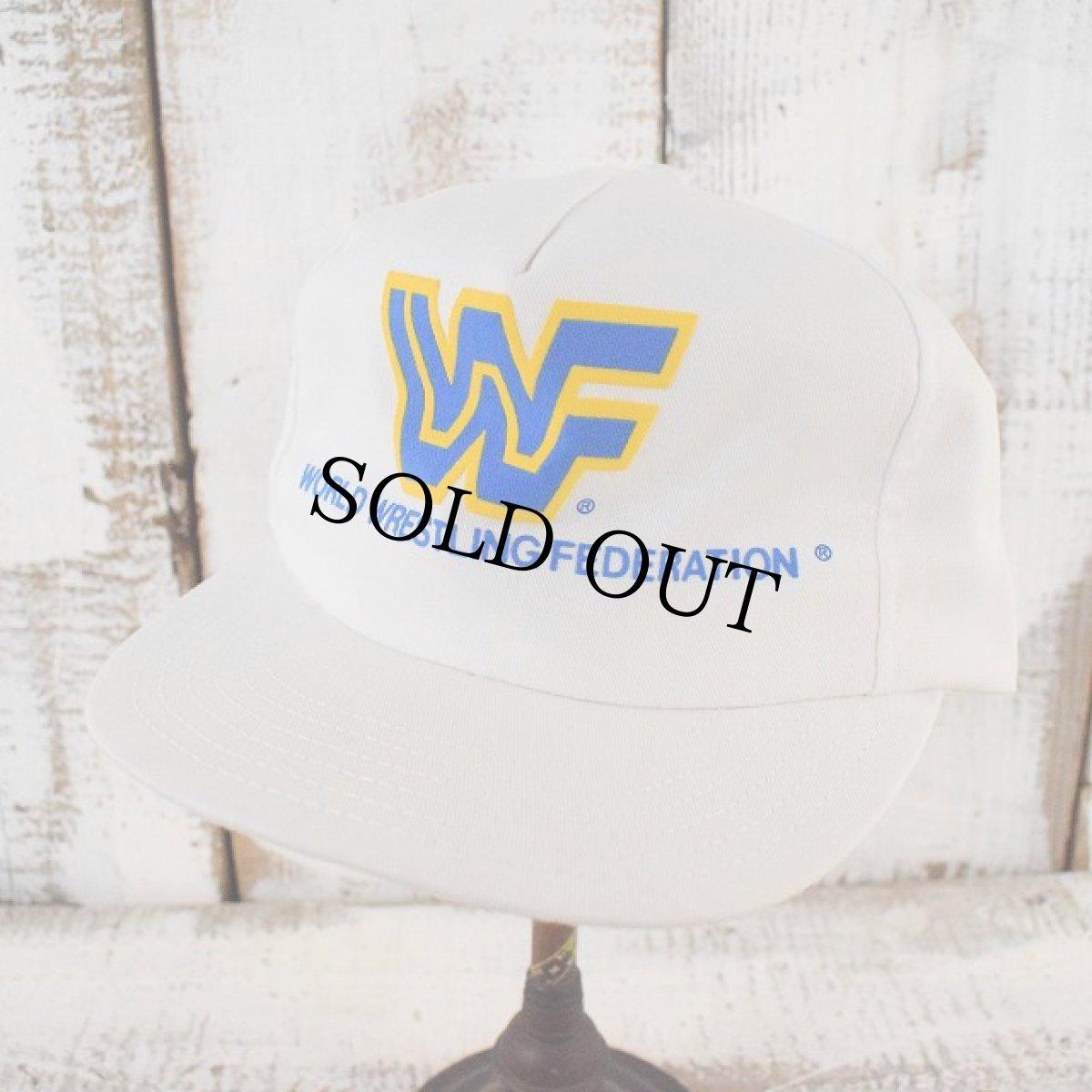 画像1: 90's WWF USA製 プロレスロゴキャップ (1)