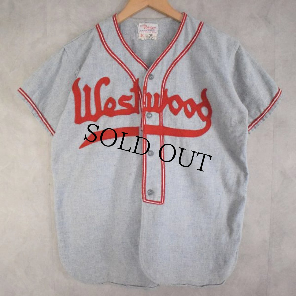 "画像1: 40〜50's BUCKY Warren ""Westwood"" Baseball Shirt (1)"